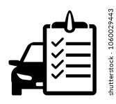 checklist car maintenance icon. ... | Shutterstock .eps vector #1060029443
