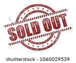 sold out stamp | Shutterstock .eps vector #1060029539
