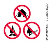 no camping  no fire and no open ... | Shutterstock .eps vector #1060031630