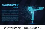 the hair dryer particles. the... | Shutterstock .eps vector #1060033550