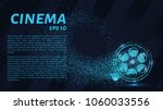 cinema of the particles. cinema ... | Shutterstock .eps vector #1060033556