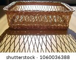 wicker basket. handmade... | Shutterstock . vector #1060036388