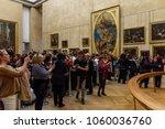 paris   april 2  2018  crowd of ... | Shutterstock . vector #1060036760