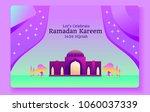 ramadan kareem. vector... | Shutterstock .eps vector #1060037339