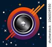 realistic audio speaker with...   Shutterstock .eps vector #1060039550