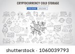 cryptocurrency concept hand... | Shutterstock .eps vector #1060039793