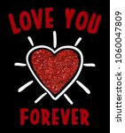 love you forever slogan on... | Shutterstock .eps vector #1060047809