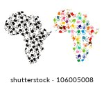 map of africa with colorful... | Shutterstock . vector #106005008