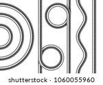 set of shower hoses. twisted ... | Shutterstock .eps vector #1060055960