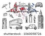 vector illustration. london... | Shutterstock .eps vector #1060058726
