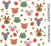 seamless pattern with animal... | Shutterstock .eps vector #1060059623