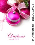pink and purple christmas... | Shutterstock . vector #1060062476