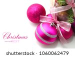 pink and purple christmas... | Shutterstock . vector #1060062479