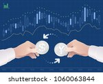 trading of currency pair... | Shutterstock .eps vector #1060063844
