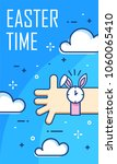 easter time banner with clouds  ... | Shutterstock .eps vector #1060065410