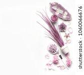 pink purple cosmetic facial... | Shutterstock . vector #1060066676