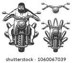 motorcycle chopper  front ... | Shutterstock .eps vector #1060067039