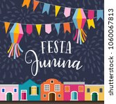 festa junina  brazilian june...   Shutterstock .eps vector #1060067813