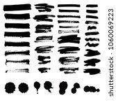 vector set of ink splashes... | Shutterstock .eps vector #1060069223