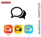 speech icon vector. chat icon | Shutterstock .eps vector #1060072253