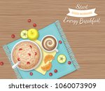 energy breakfast. food  bakery... | Shutterstock .eps vector #1060073909