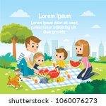vector illustration with family ... | Shutterstock .eps vector #1060076273