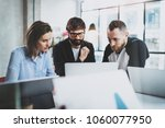 brainstorming process at sunny... | Shutterstock . vector #1060077950