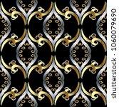 floral vintage oriental style... | Shutterstock .eps vector #1060079690