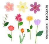 fantasy flowers vector... | Shutterstock .eps vector #106008680