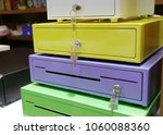 colorful box safe with keys... | Shutterstock . vector #1060088360