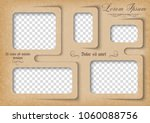 template for photo collage in... | Shutterstock .eps vector #1060088756