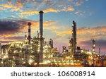oil refinery at twilight | Shutterstock . vector #106008914