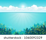 underwater background with... | Shutterstock .eps vector #1060092329