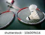 Two Shuttlecocks And Badminton...