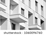facade of a modern apartment... | Shutterstock . vector #1060096760