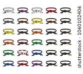 martial arts belts icon set... | Shutterstock .eps vector #1060102406