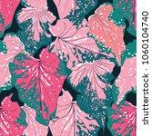 Seamless Pattern Botanical Pink ...