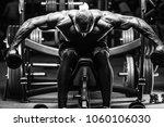 blonde brutal sexy strong... | Shutterstock . vector #1060106030