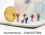 miniature people with traveling ...   Shutterstock . vector #1060107386