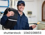 portrait of a smiling...   Shutterstock . vector #1060108853