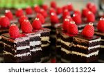 chocolate devil cake with white ... | Shutterstock . vector #1060113224