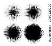set of halftone dots vector... | Shutterstock .eps vector #1060120220