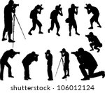 photographers silhouettes... | Shutterstock .eps vector #106012124