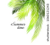 background of palm leaves.... | Shutterstock .eps vector #1060121243