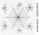 set of black spider web on... | Shutterstock .eps vector #1060123676