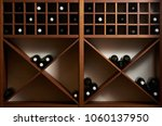 bottles of white and red wine... | Shutterstock . vector #1060137950