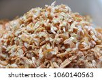 Small photo of Heap of dried salted prawn, dried shrimp are shrimp that have been sun-dried and shrunk to a thumbnail size.