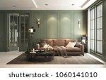 interior classic living  retro... | Shutterstock . vector #1060141010