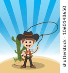 funny cowboy with background...   Shutterstock . vector #1060143650