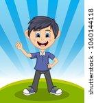 handsome little boy with...   Shutterstock . vector #1060144118